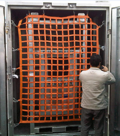 Webbing Container Net,polyester web container net fall protection cargo safety net