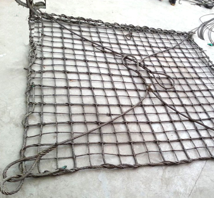 wire lifting net_Wire Rope (Steel) Cargo Net