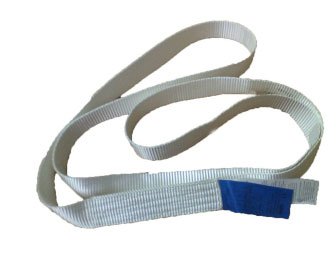 One trip sling one way webbing sling