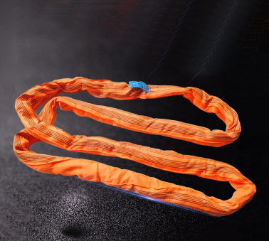 Industrial Wire Rope Tan Tubular Polyester Round Sling 18